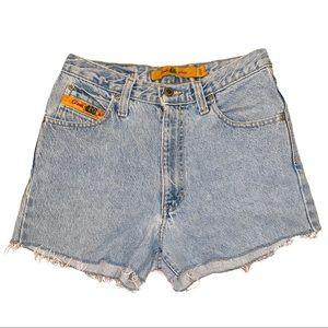 Vintage Quicksilver High Waist Denim Shorts
